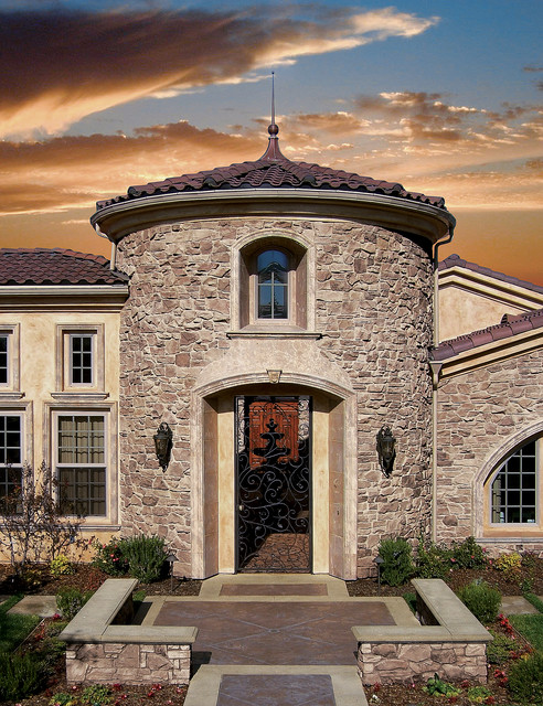 Italian villa home coronado manufactured stone for Mediterranean stone houses