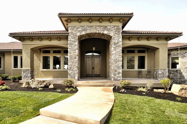 Italian Villa Provo Canyon Grey Modern Exterior
