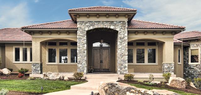 Italian Villa Stone Home Exterior