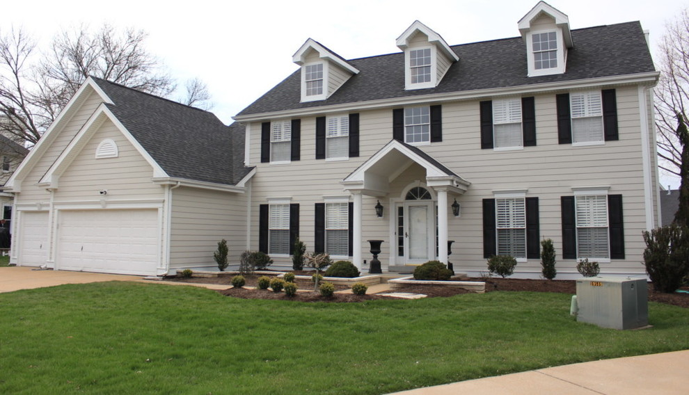 James Hardie Cobblestone Lap Siding Remodel Chesterfield Mo 63005 Traditional Exterior St Louis