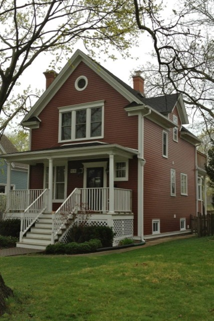 james hardie country lane red siding - Traditional - Exterior ...