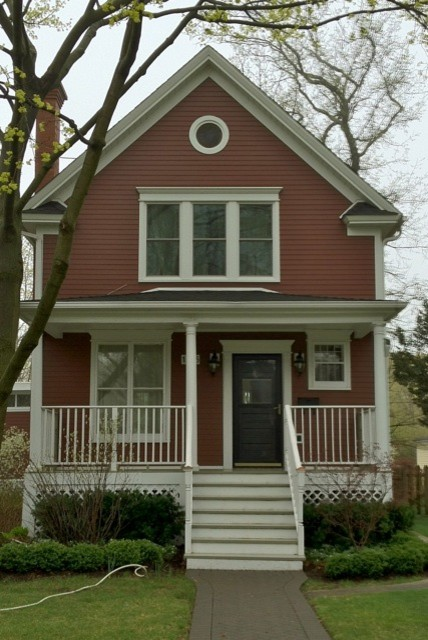 James Hardie Country Lane Red Siding Traditional