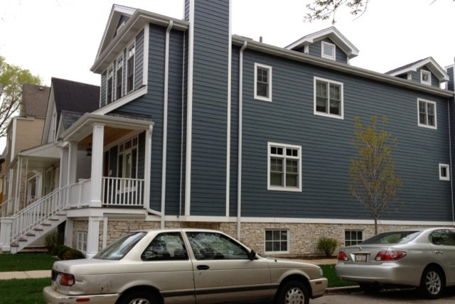 james hardie evening blue siding traditional-exterior
