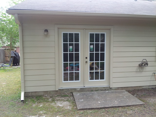 James Hardie-HardiePlank Siding & French Doors. The Woodlands ...