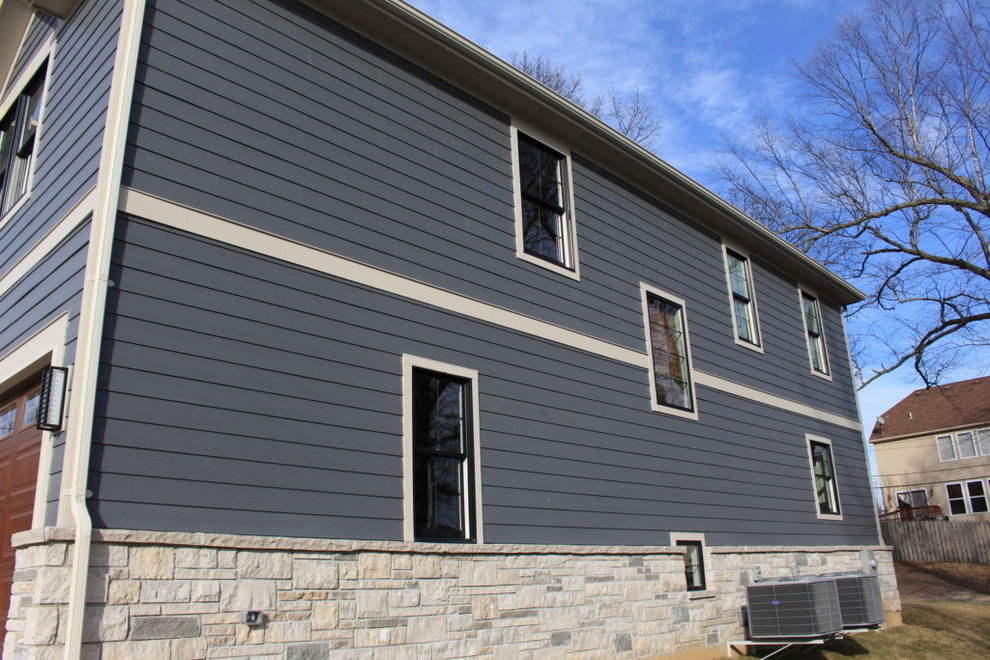 James Hardie Night Gray Lap Siding Olivette Mo 63132 Traditional Exterior St Louis