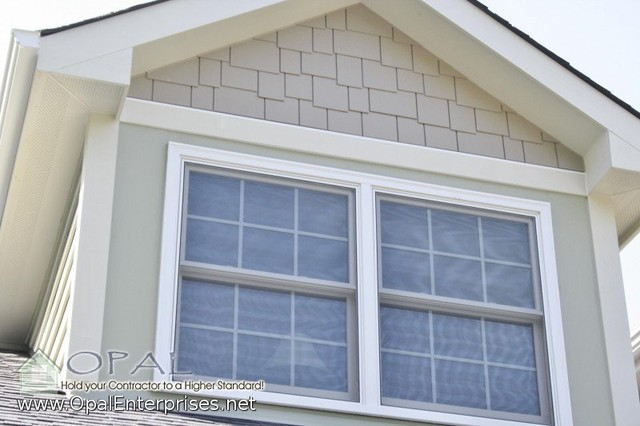 James Hardie Shingle Siding Accent In The Gables With