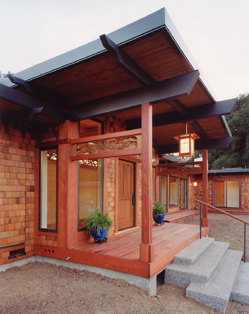 Japanese house asian exterior san francisco by m for Asian architecture house design