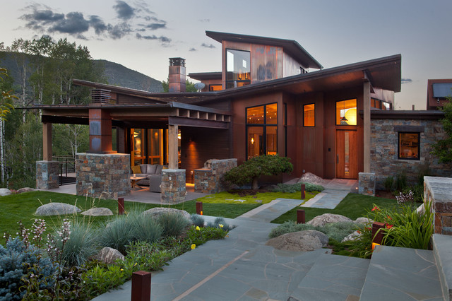 Japanese inspired ranch home asian exterior denver for Asian inspired house plans