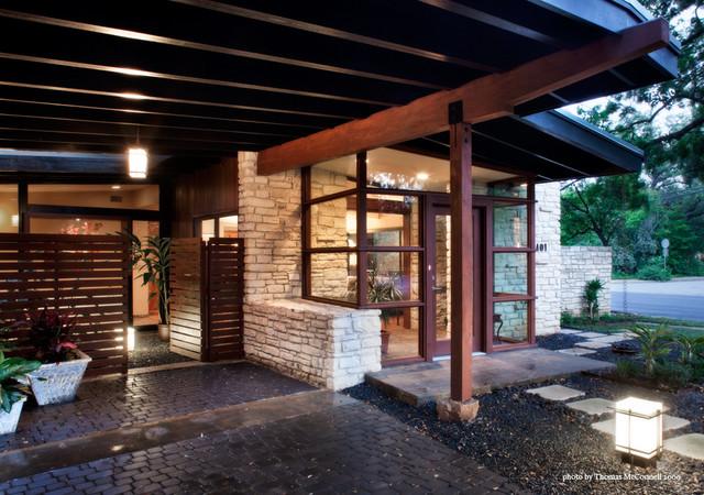Jarratt Mid Century Modern Midcentury Exterior Austin