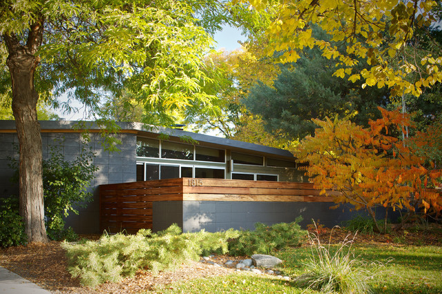 Jersey Way Addition Midcentury Exterior Denver By