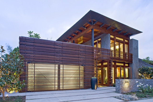 Jewell exterior front modern exterior san diego for Modern tropical house exterior