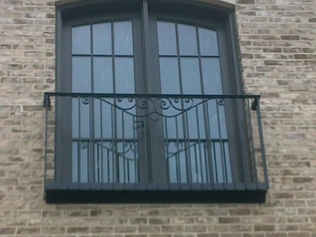 Juliette balcony mediterranean exterior wilmington by mnc metal design for Juliet balcony