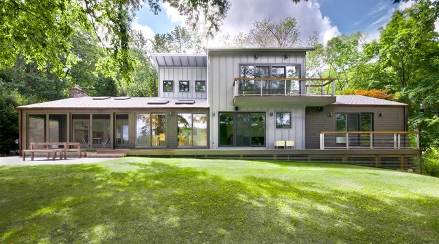 Katonah Lake Shore Modern Contemporary Exterior New