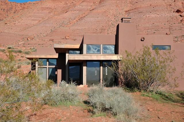 Kayenta desert modern southwestern exterior other for Modern adobe houses