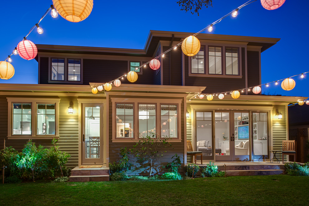 Traditional brown two-story exterior home idea in San Francisco