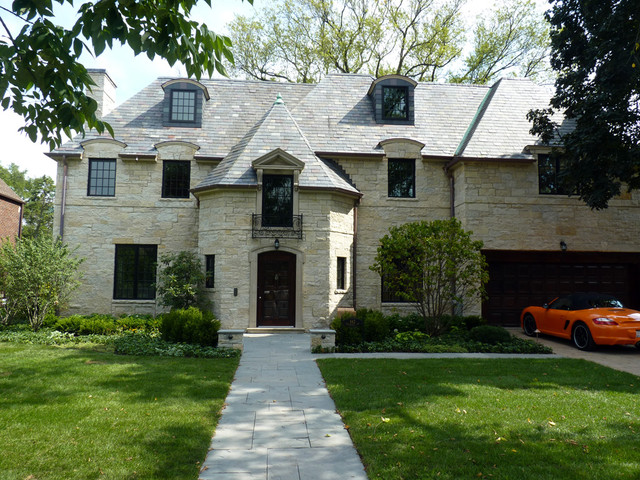 Kenilworth private residence 2 traditional exterior for Limestone homes designs