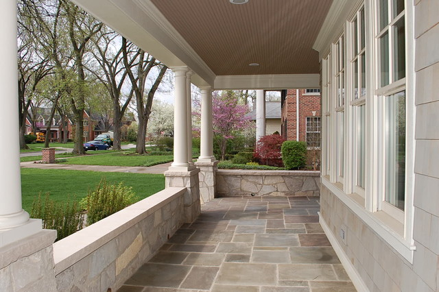 Kenmore craftsman exterior chicago by craig ross for Stone porches photos