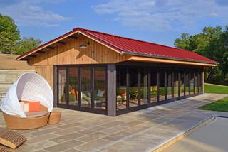 Kentucky Pool House Farmhouse Exterior Louisville