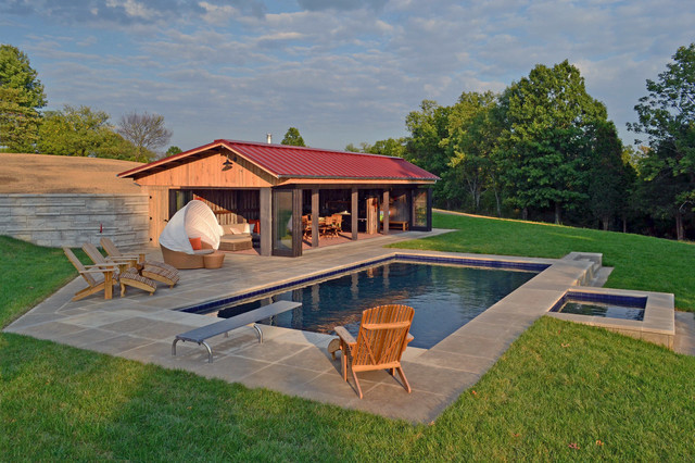 Kentucky pool house moderne fa ade louisville par for Pool design louisville ky