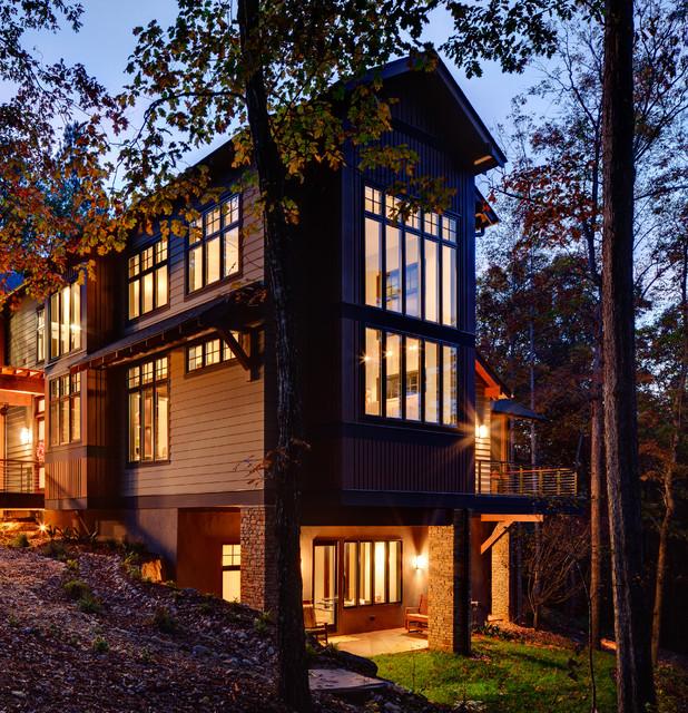 Modern House Design Houzz: Keowee Falls, Big Creek