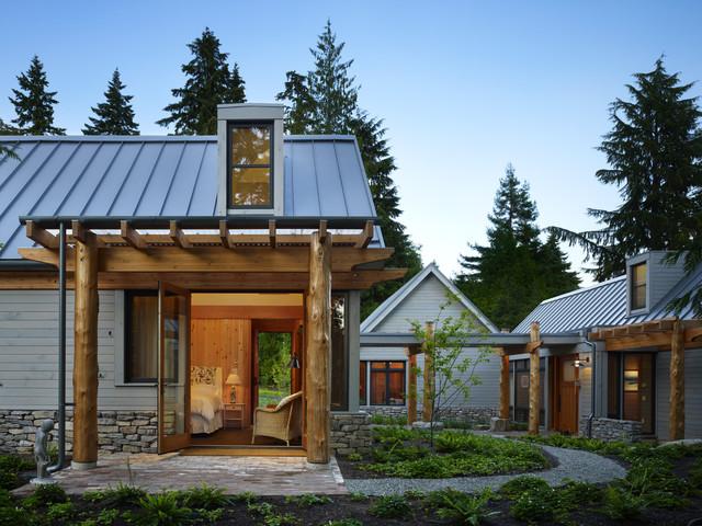 Key peninsula residence for Metal building cabin
