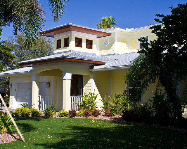 Key west style beach style exterior miami by steve for Key west architecture style