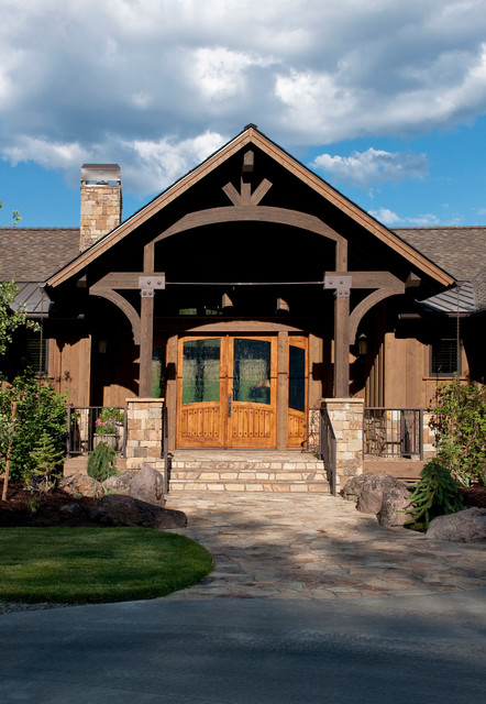 Keystone Ranch Home  Brasada Style Homes rustic exterior Rustic