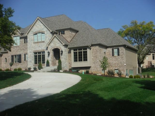 khaki brown lap siding pebblestone clay aluminum soffit fascia st louis - Clay Siding Pictures Of Houses