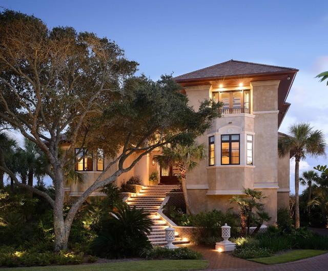 Kiawah island tuscan villa mediterranean exterior for Buffington homes
