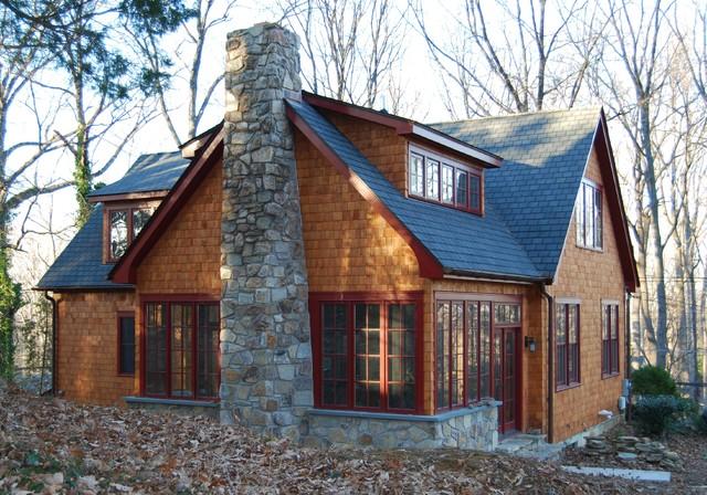 Kirk S Craftsman Style Sunroom Fireplace Craftsman