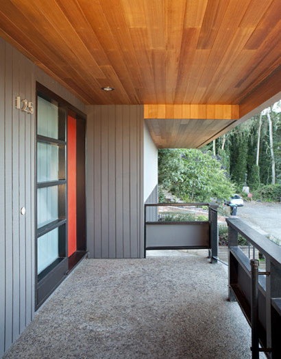 Image from for Mid century modern home exterior colors