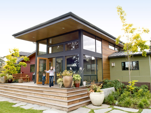 Shed roof for Home garden design houzz