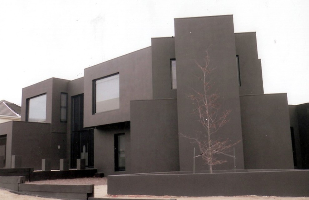 This is an example of a contemporary exterior in Geelong.