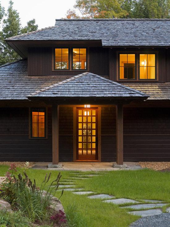Contemporary Covered Entry Home Design Photos Decor Ideas