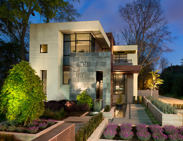 Lafrance residence contemporary exterior atlanta Contemporary homes atlanta