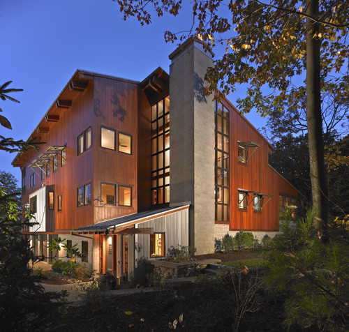 KAUY Exterior Hardwood Mahogany|Modern Exterior By Scranton Architects U0026  Building Designers DxDempsey Architecture