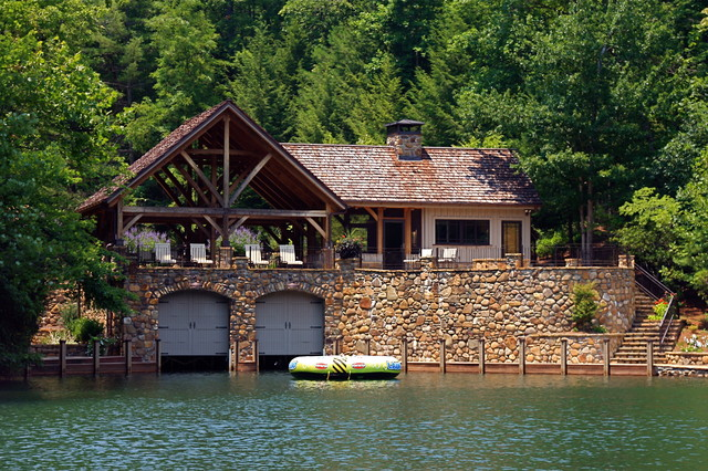 Lake Burton Boat Houses Traditional Exterior Atlanta