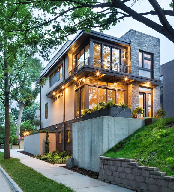 Small Modern Home Exteriors: Lake Calhoun Organic Modern