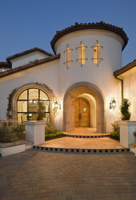 Lake conroe spanish mediterranean exterior austin for Spanish style homes for sale near me