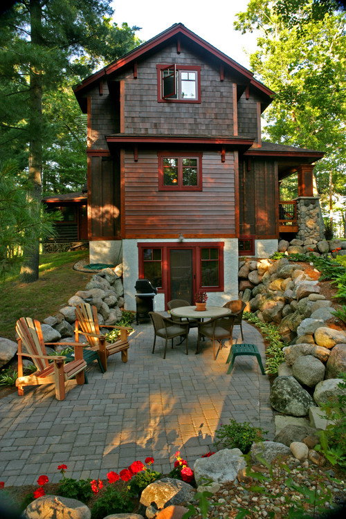 Is this natural wood siding or an engineered product what for Log home landscape design