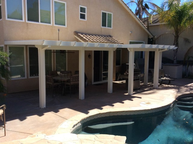 Lake Forest Duralum Patio Cover Traditional Exterior
