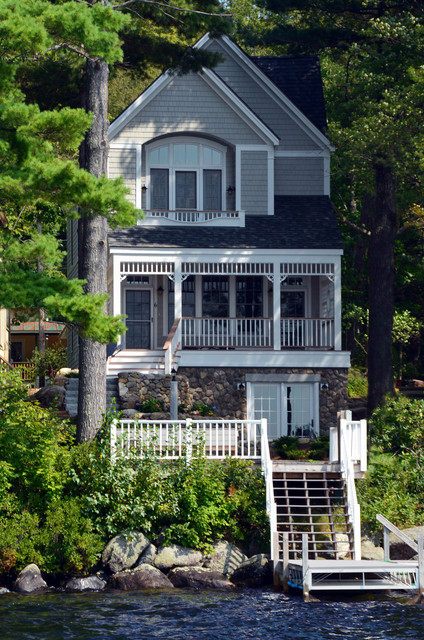 lake front home in nh victorian exterior boston by On exterior design nh