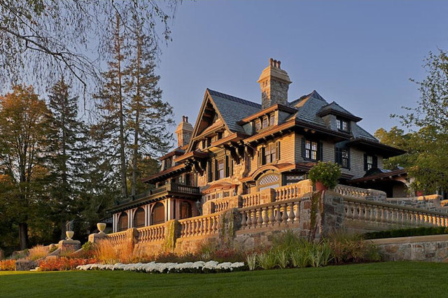 Lake Front Mansion traditional-exterior