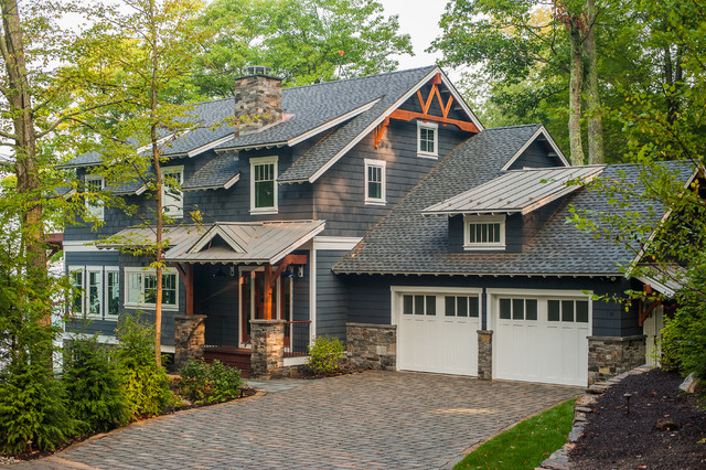 Lake George Retreat Rustic Exterior New York By
