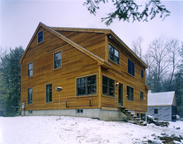 Lake george saltbox traditional exterior new york for Saltbox house additions