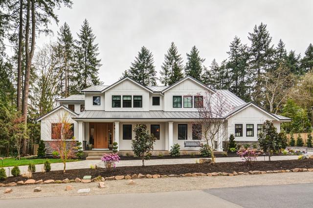 Lake Grove Custom Farmhouse Exterior Portland By