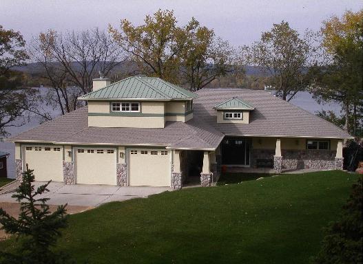 Lake Home 1 contemporary-exterior