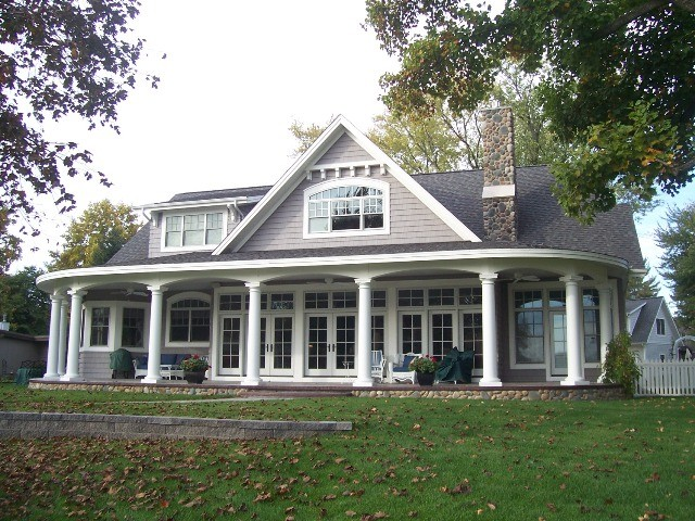 traditional lake house lake homes syracuse indiana traditional exterior 71222