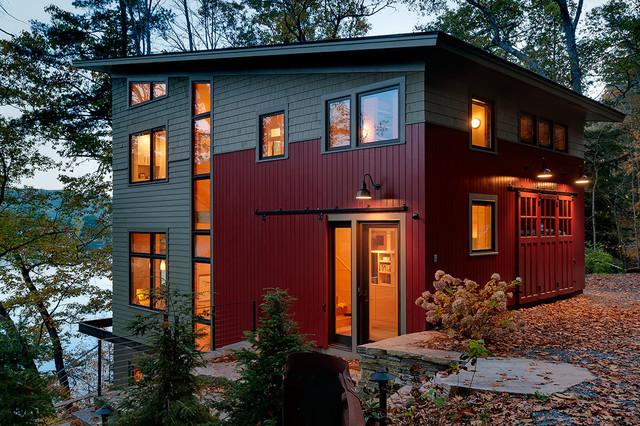 Lake House Contemporary Exterior Burlington By
