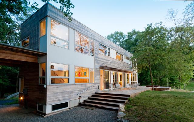 Lake Iosco House Exterior Modern Exterior New York